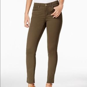 Charter Club Jeans Green Bristol Skinny Ankle
